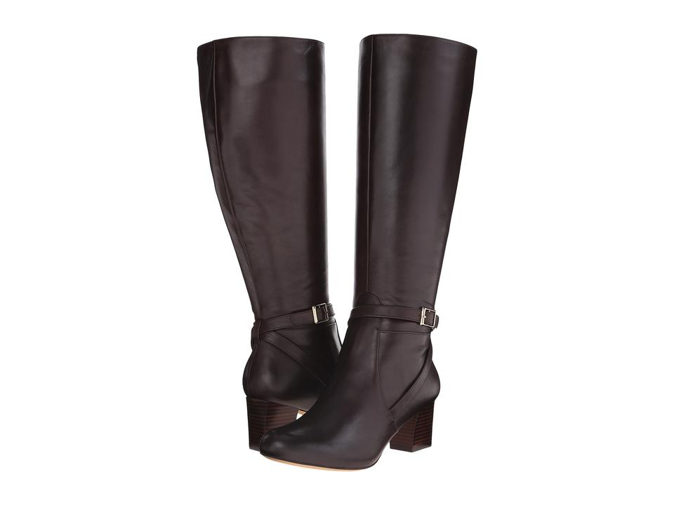 21828eed9f3 Trotters Dark Brown Peaches Calf - Women s Riding Boots Booties Size ...