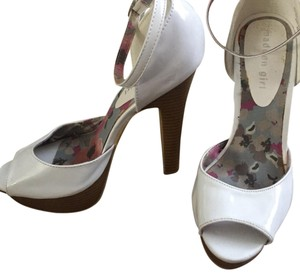 Madden Girl White Platforms