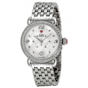 Michele NWT Michele csx diamond quilted MOP dial watch