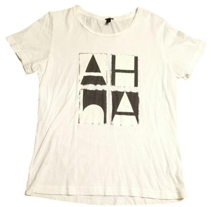 J.Crew T Shirt White, black and silver
