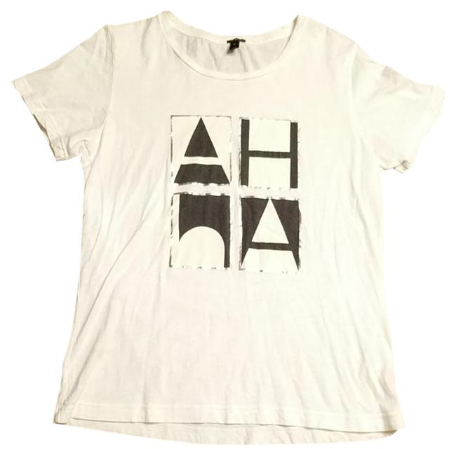 Item - White Black and Silver B9878 Tee Shirt Size 10 (M)