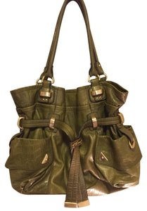 B. Makowsky Leather Handbag Hobo Bag