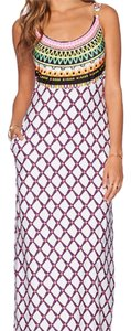 White Multi Maxi Dress by Trina Turk