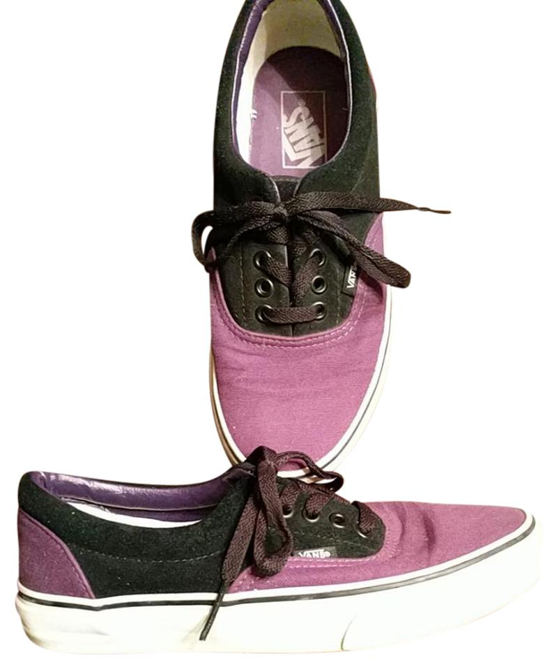 Vans Purple and Black Off The Wall Sneakers Size US 8.5 Regular (M ... 4d9246559