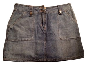 New York & Company Mini Skirt denim