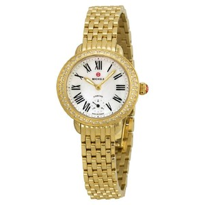 Michele NWT serein 12 MOP gold and diamond watch