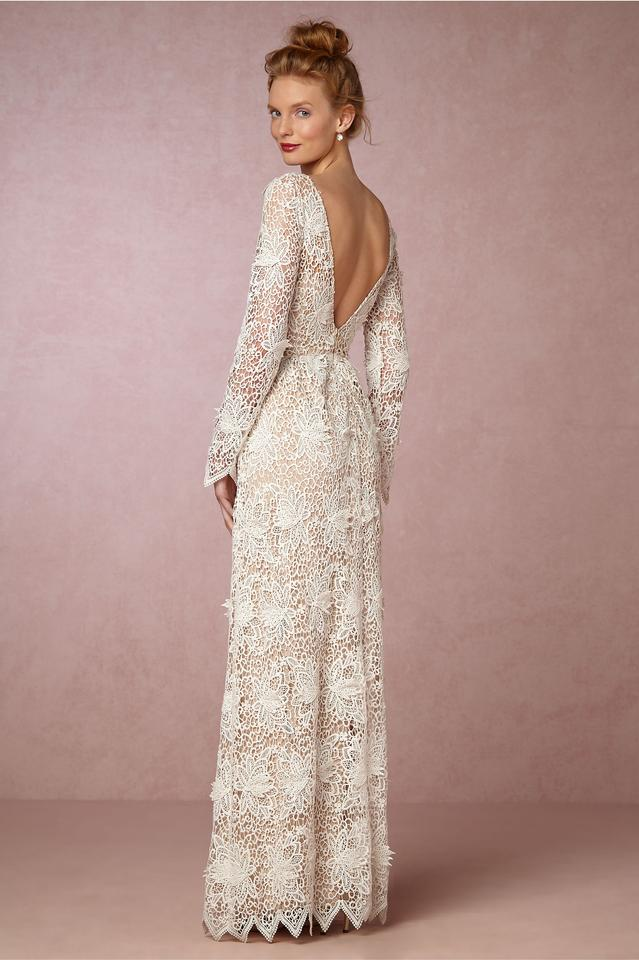 d4557e3f6524 Ivory with Nude Underlay Polyester Landry From Bhldn Never Worn Casual Wedding  Dress Size 10 ...