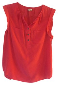 Madewell Silk Business Casual Night Out Top Pink
