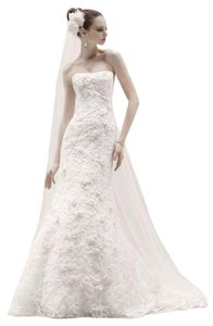 Oleg Cassini Oleg Cassini Subtle Pink Floral Wedding Dress Wedding Dress