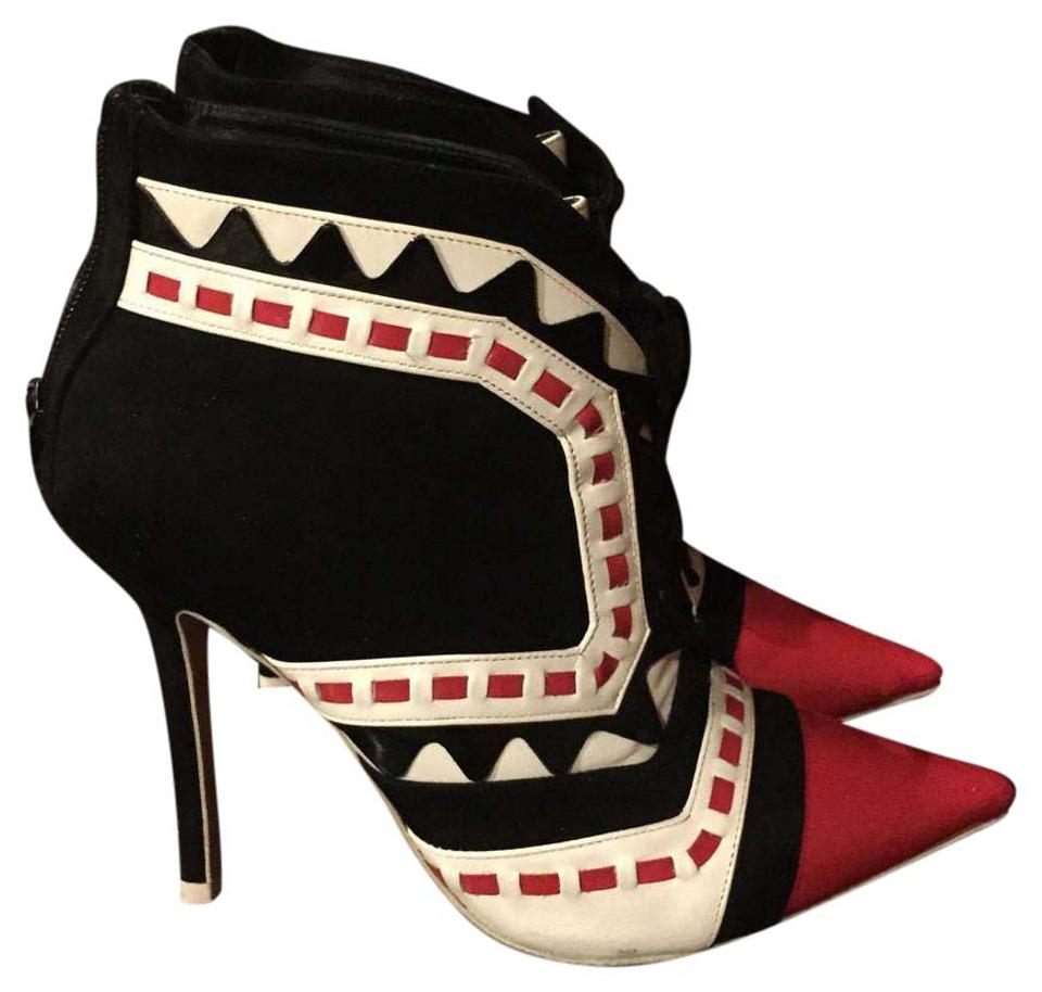Sophia White Webster Red Black and White Sophia Boots/Booties e36c49