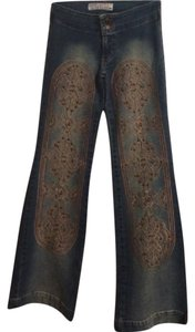 Sweet November Flare Leg Jeans-Light Wash