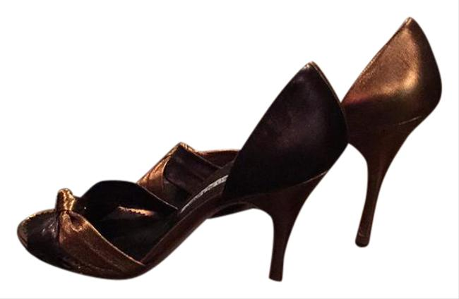 Item - Deep Copper and Brown. Knot D'orsay Pump Formal Shoes Size US 7 Regular (M, B)