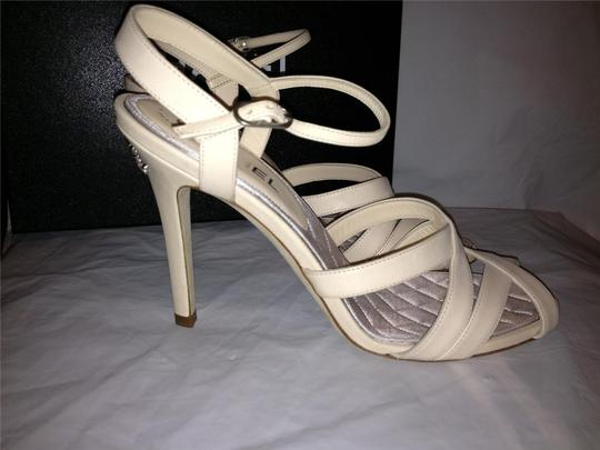 Chanel Crystal Jewel Strappy Ankle Strap Ivory Sandals Image 7