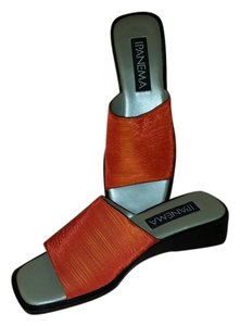 iPANEMA Orange Shantung Sandals