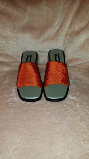 iPANEMA Orange Shantung Sandals Image 1