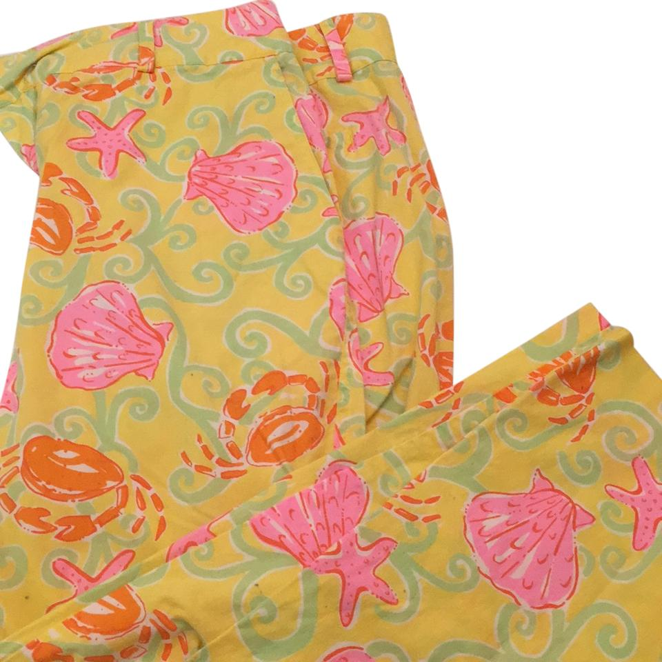 Pleasing Lilly Pulitzer Yellow With Shells Starfish And Crabs Capris Size 6 S 28 65 Off Retail Uwap Interior Chair Design Uwaporg