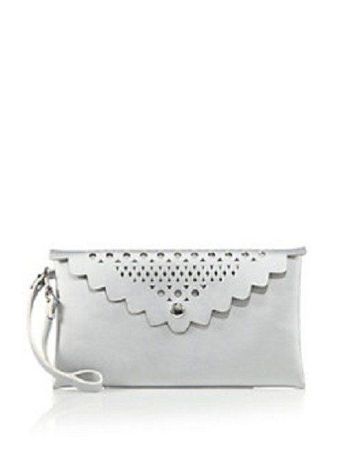 Item - Silver Clutch Faux Leather Makeup Case Cosmetic Bag