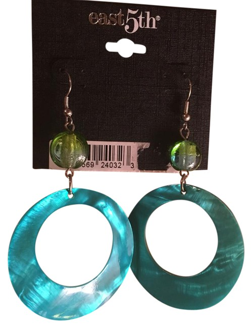 Item - Blue/Green Fun Summer Earrings