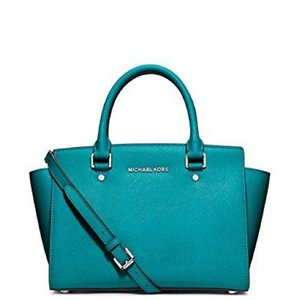 New with tag mk selma bag Satchel in tile blue