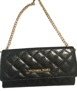 Michael Kors Wallet On Chain Quilted Leather Clutch Cross Body Bag
