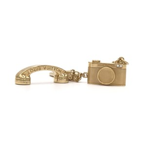Louis Vuitton Gold Retro Telephone and Swarovski Crystal Hollywood Camera Key Chain
