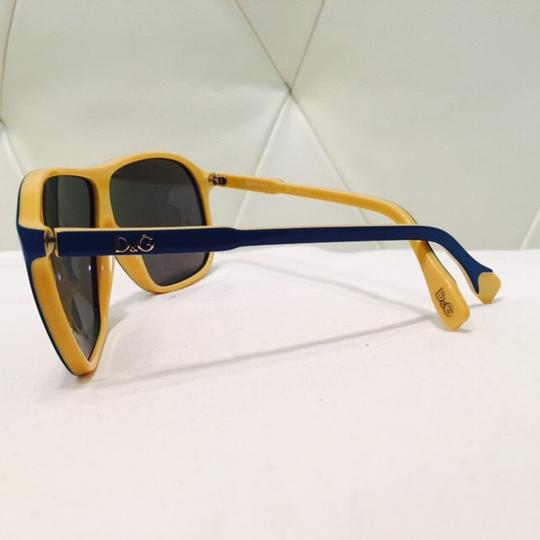 Dolce&Gabbana Women's Blue and Yellow Mirror Lenses Image 1