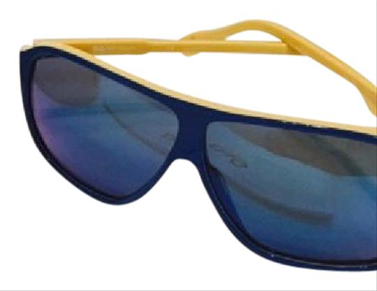 Dolce&Gabbana Women's Blue and Yellow Mirror Lenses Image 5