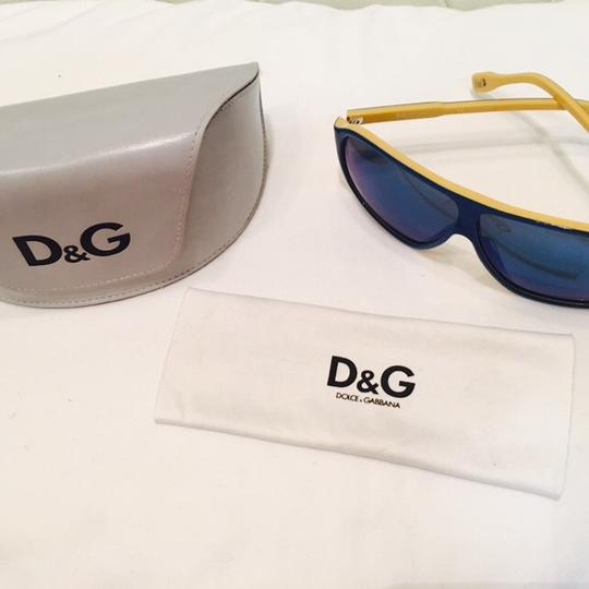 Dolce&Gabbana Women's Blue and Yellow Mirror Lenses Image 8