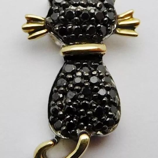 Other SOLID 14k YELLOW GOLD / STERLING SILVER / DIAMONDS PENDANT Image 1