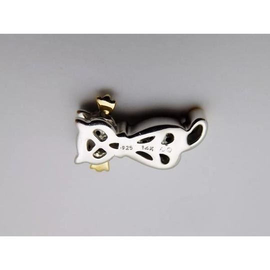 Other SOLID 14k YELLOW GOLD / STERLING SILVER / DIAMONDS PENDANT Image 3
