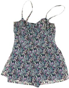Topshop Artsy Print Sleeveless Sweetheart Dress