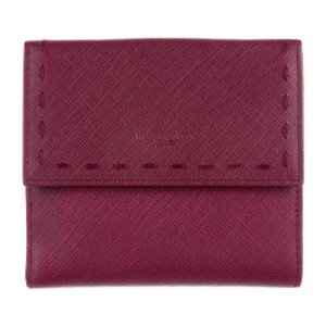 Saint Laurent Oxblood saffiano leather Yves Saint Laurent compact wallet