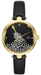 Kate Spade Kate Spade Women's Black Leather Holland Watch KSW1234
