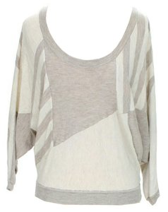 Ella Moss Abstract Scoop Neck Dolman Geometric Sweater