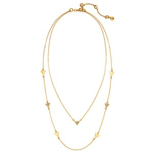 Chloe + Isabel Pave Triangle Convertible Layering Necklace