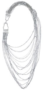 Stella & Dot Multi-Strand Chain Bib Necklace