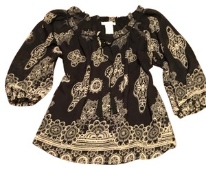 MM Couture Top black & tan