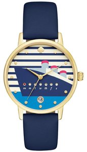 Kate Spade Kate Spade Women's Navy Blue Leather Metro Watch KSW1138