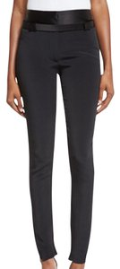 Tom Ford Zip Cuffs Tuxedo Skinny Pants black