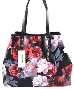 Kenneth Cole Tote in Black/Pink Floral