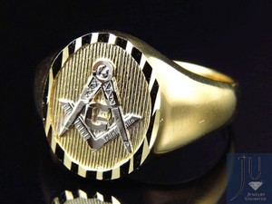 Other Mens 10k Yellow Gold Lab Diamond Fashion Pinky Ring (13MM)