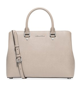 Michael Kors Savannah Large Satchel in Cement