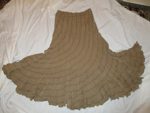 Coldwater Creek Maxi Skirt khaki