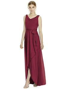 Jenny Yoo Burgundy Chiffon Knit Jy532 Bridesmaid/Mob Dress Size 8 (M)