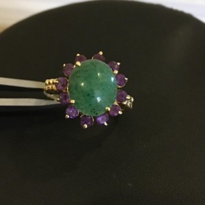 Other 14K Jade and Amethyst Ring