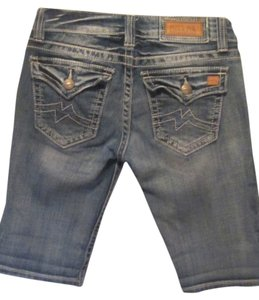 Miss Me Bermuda Shorts blue denim