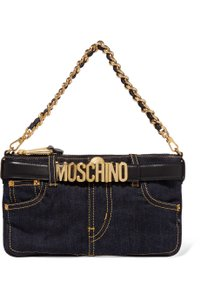 Moschino Denim Chain Shoulder Bag