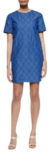 Kate Spade short dress Denim Blue Denim Quilted Shift on Tradesy