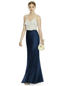 Jenny Yoo Midnight Navy Florentine Lace Jys529 Bridesmaid/Mob Dress Size 10 (M)