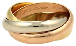 Cartier Cartier Trinity 18k Tricolor Gold 4mm Rolling Band Ring Sz: EU 57-US 8